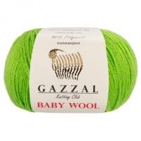 Пряжа Gazzal Baby Wool (821 салатовый)