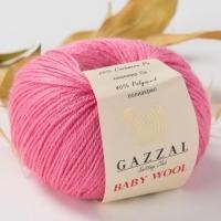 Пряжа Gazzal Baby Wool (831 розовый)