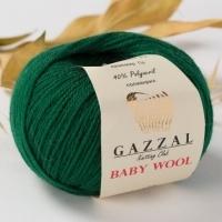Пряжа Gazzal Baby Wool (814 зеленый)