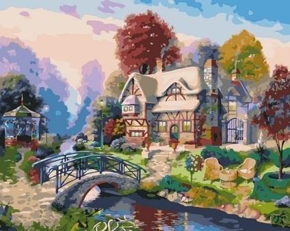 Картина по номерам GX 36426 Живописный домик 40х50