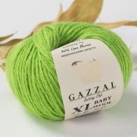 Пряжа Gazzal Baby Wool XL (838 зелёное яблоко)