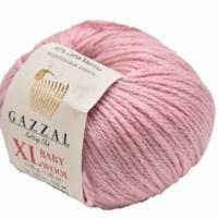 Пряжа Gazzal Baby Wool XL (845 сухая роза)