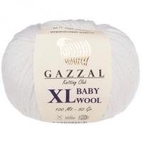 Пряжа Gazzal Baby Wool XL (801 белый)