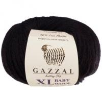 Пряжа Gazzal Baby Wool XL (803 чёрный)