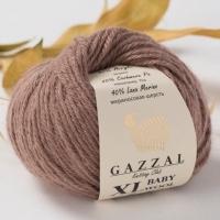 Пряжа Gazzal Baby Wool XL (835 молочный шоколад)