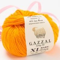 Пряжа Gazzal Baby Wool XL (837 янтарь)