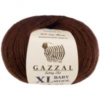 Пряжа Gazzal Baby Wool XL (807XL коричневый)