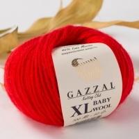 Пряжа Gazzal Baby Wool XL (811 красный)
