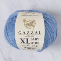 Пряжа Gazzal Baby Wool XL (813 голубой)