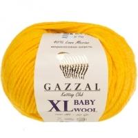 Пряжа Gazzal Baby Wool XL (812 жёлтый)