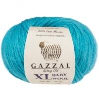 Пряжа Gazzal Baby Wool XL (820 бирюзово-голубой)