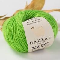 Пряжа Gazzal Baby Wool XL (821 салатовый)