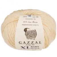 Пряжа Gazzal Baby Wool XL (829 молочный)