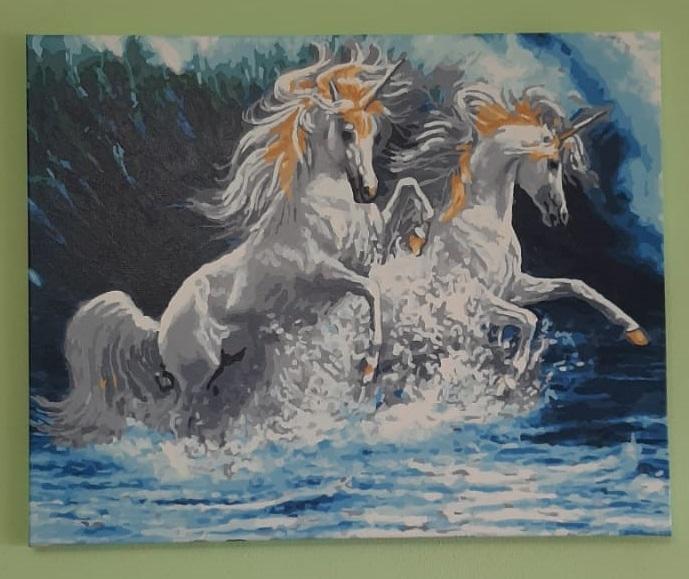 Картины по номерам Единороги