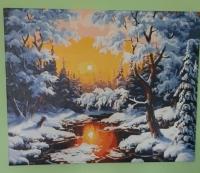 Картины по номерам Зимний пейзаж