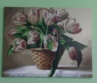 Картины по номерам Тюльпаны