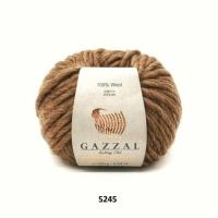 Пряжа Gazzal Pure Wool-4 (5245 коричневый)