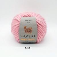 Пряжа Gazzal Pure Wool-4 (5252 розовый)