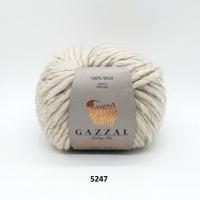 Пряжа Gazzal Pure Wool-4 (5247 бежевый)