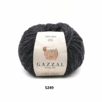 Пряжа Gazzal Pure Wool-4 (5249 темно-серый)