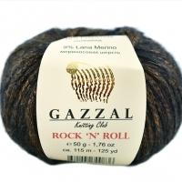 Пряжа Gazzal Rock n Roll (13907 коричневый)