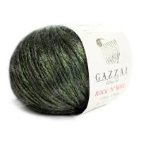 Пряжа Gazzal Rock n Roll (13910 лесной зелёный)