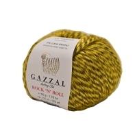 Пряжа Gazzal Rock n Roll (13956 жёлтый/тёмно-серый)