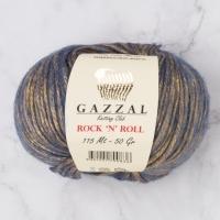 Пряжа Gazzal Rock n Roll (13184 голубой)