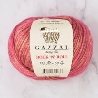 Пряжа Gazzal Rock n Roll (13190 яр.розовый)
