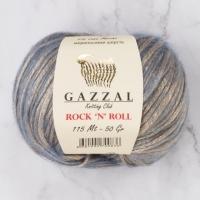 Пряжа Gazzal Rock n Roll (13478 бежево-голубой)