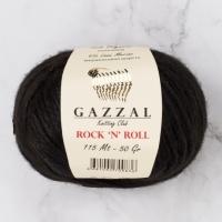 Пряжа Gazzal Rock n Roll (4215 черный)