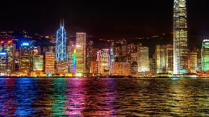 Картина по номерам MG1108 Ночной Гонконг