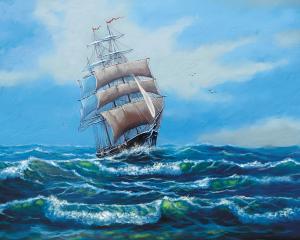 Картина по номерам MG2410 Корабль с белыми парусами