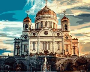 Картина по номерам MG8027 Храм Христа Спасителя