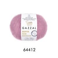 Пряжа Gazzal Super Kid Mohair (64412 розовый)