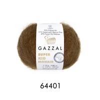 Пряжа Gazzal Super Kid Mohair (64401 коричневый)