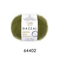 Пряжа Gazzal Super Kid Mohair (64402 болотный)