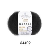 Пряжа Gazzal Super Kid Mohair (64409 черный)