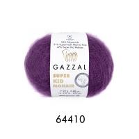 Пряжа Gazzal Super Kid Mohair (64410 фиолетовый)