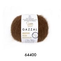 Пряжа Gazzal Super Kid Mohair (64400 коричневый)