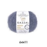 Пряжа Gazzal Super Kid Mohair (64411 серый)