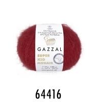 Пряжа Gazzal Super Kid Mohair (64416 красный)