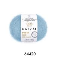 Пряжа Gazzal Super Kid Mohair (64420 голубой)