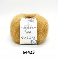 Пряжа Gazzal Super Kid Mohair (64423 песочный)