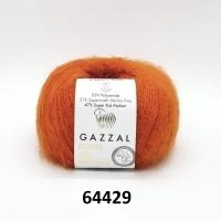 Пряжа Gazzal Super Kid Mohair (64429 коралловый)