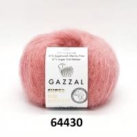 Пряжа Gazzal Super Kid Mohair (64430 розовый)