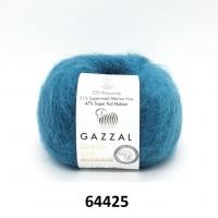 Пряжа Gazzal Super Kid Mohair (64425 бирюзовый)