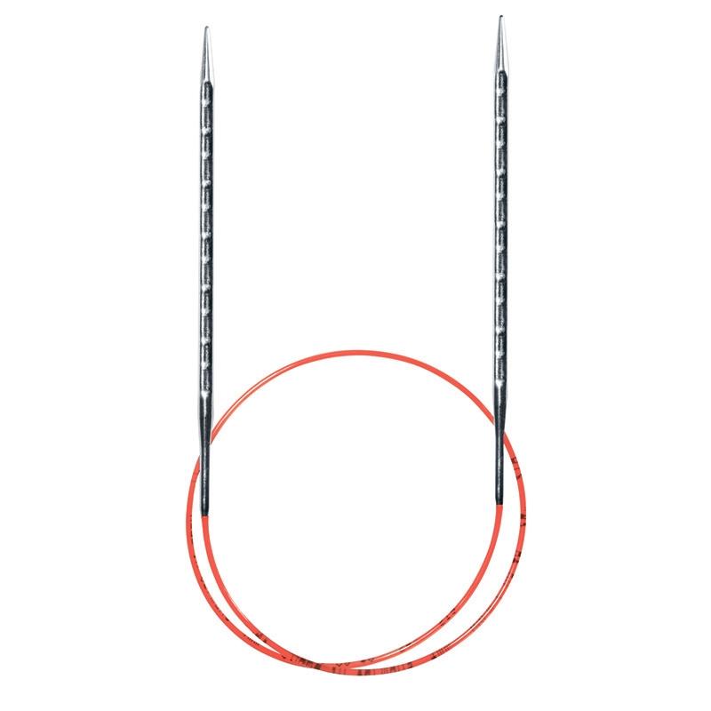 717-7/3.5-60 Спицы Addi 3,5 мм 60 см метал.круговые супергладкие с квадратным кончиком ADDINOVEL