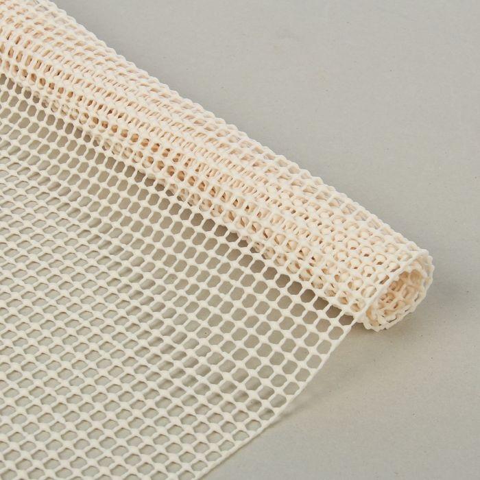 Подложка под ковёр противоскользящая 45х120 см, цвет белый
