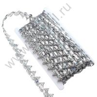 Тесьма декоративная 2 см 3491 в ассортименте (серебро)